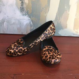 Cole Haan Women's size 7 Calf Hair Slipper Leopard